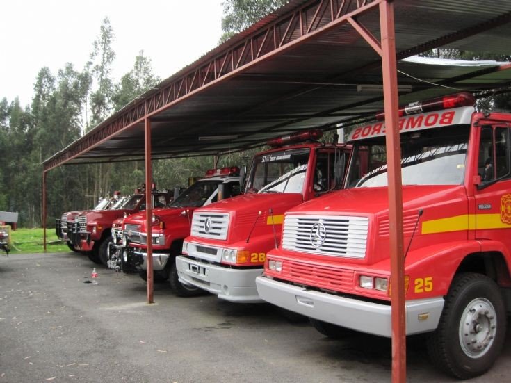 Cuenca, Ecuador Fire truck line up