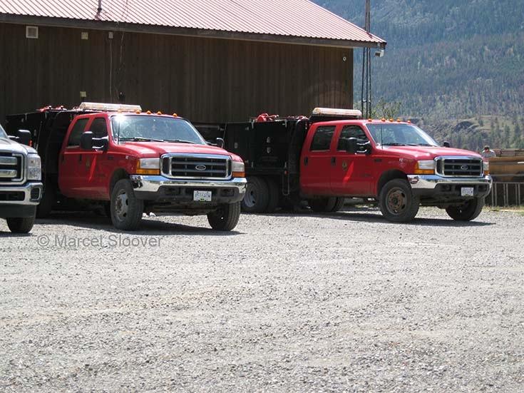 Ford Bush Fire units BC Canada