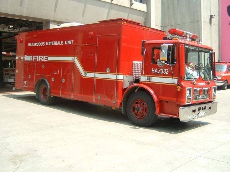 Toronto Hazmat Unit Mack Toronto FD