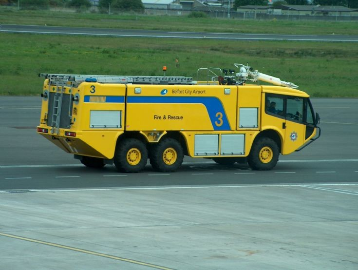 Crashtender Belfast City Airport