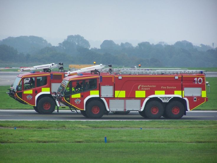 Two crashtenders Manchester Airport