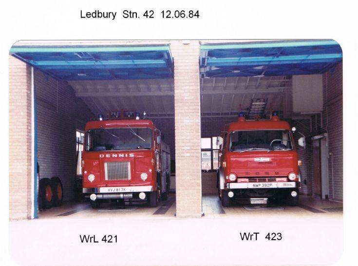 Ledbury Fire Station, H&WFB. 1984.