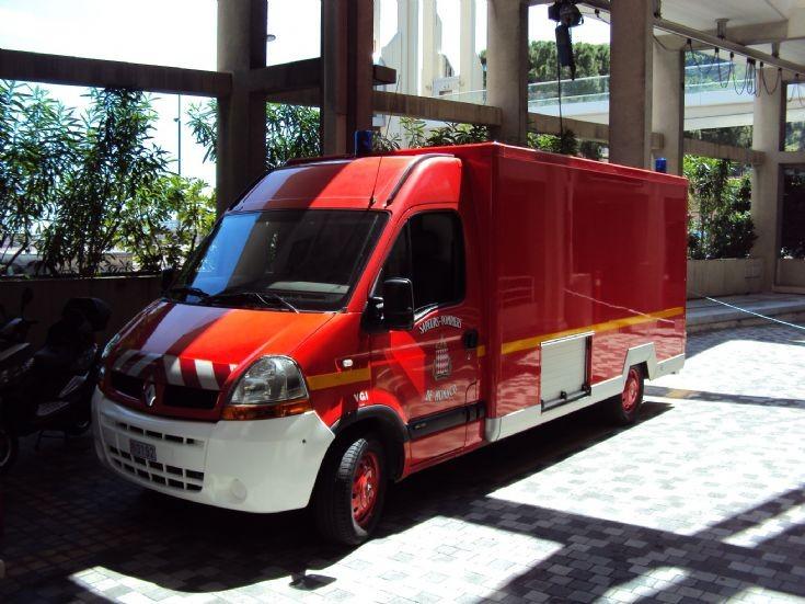 Firemen of Monaco's ambulance.