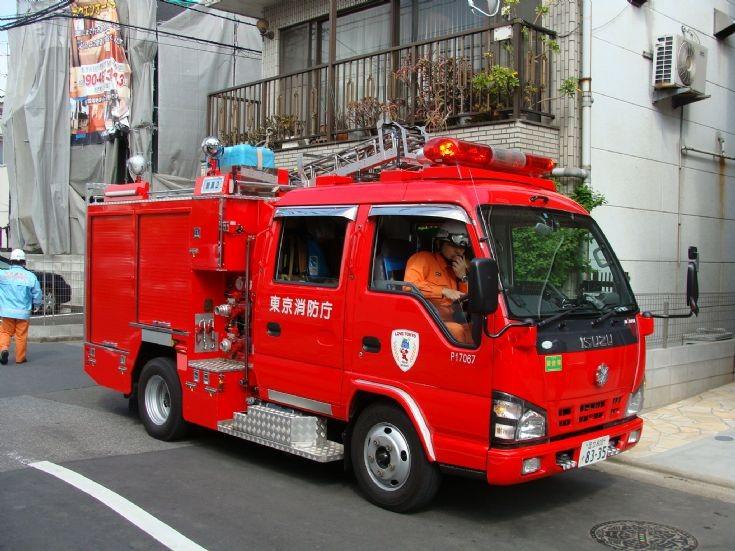 Isuzu light pumper of  Fire Department Tokyo