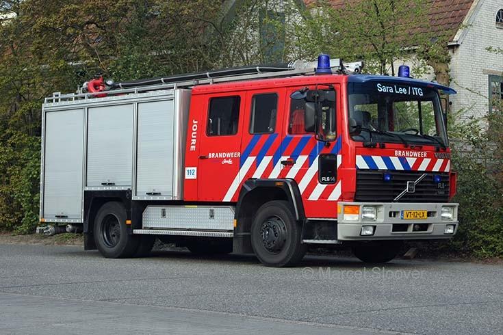 Works Fire brigade Sara Lee DE Joure Volvo