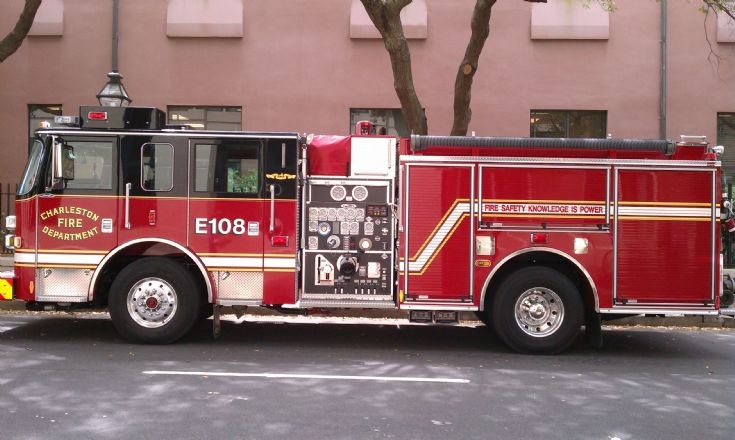 Engine 108 of the Charleston Fire Department, SC