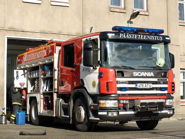 Estonian Scania firetruck