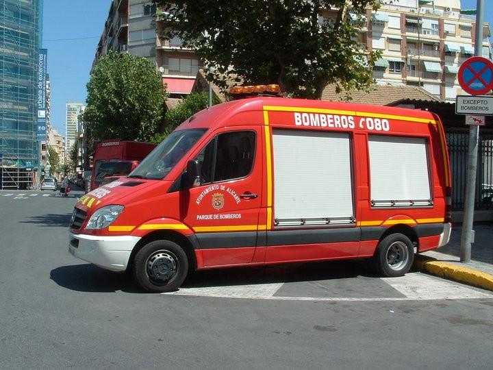 Spanish Fire Appliance Mercedes Benidorm