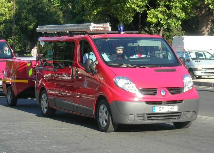 Renault Trafic SP255 of Paris fire brigade.