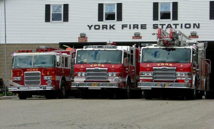 York Fire Department line-up