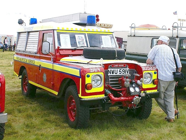 Fire and Rescue Service Land Rover