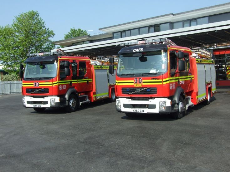 Winchester Fire Station Volvo pumps