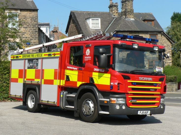 Derbyshire FRS Dronfield Scania FJ11 AUF