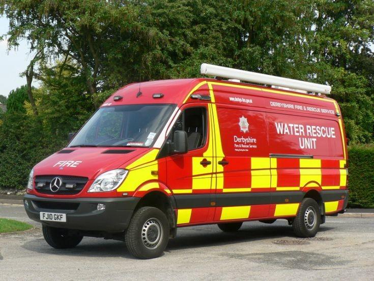 Derbyshire FRS Water Rescue Unit Mercedes