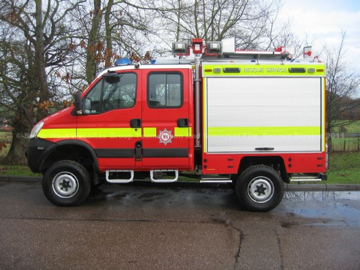 WA60 FGG Iveco Devon and Somerset FRS