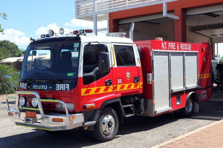 Northern Territory Fire Service Isuzu pump