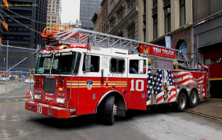 Seagrave 100ft rear-mounted ladder at Tenhouse