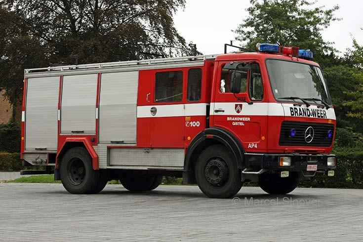 Brandweer Gistel Mercedes Doeschot-Rosenbauer Dias
