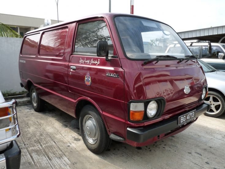 Toyota Hiace workshop van