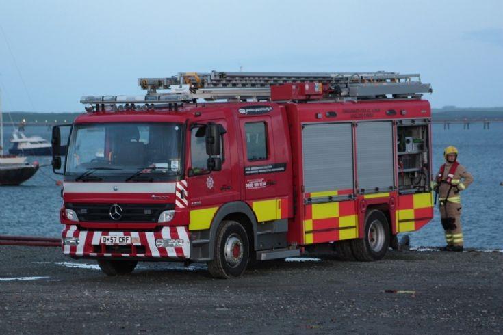 Training Holyhead Fire engine