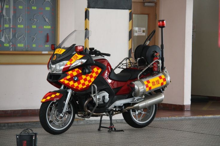 BMW R900RT Fire Motorcycle in Hong Kong