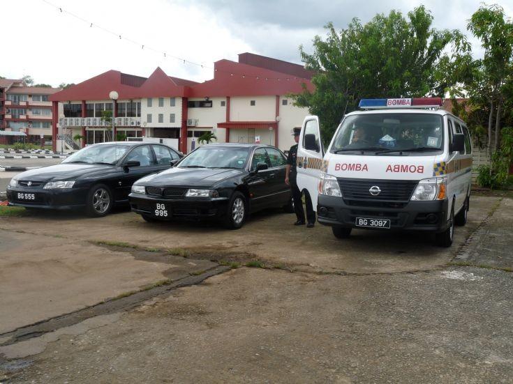 BFRD staff car and van Brunei