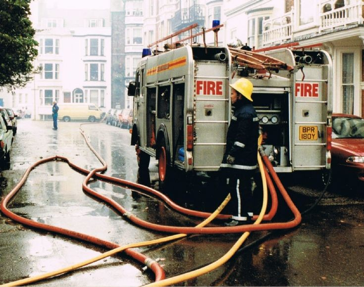 Bedford appliance. 1993 Dorset fire brigade.