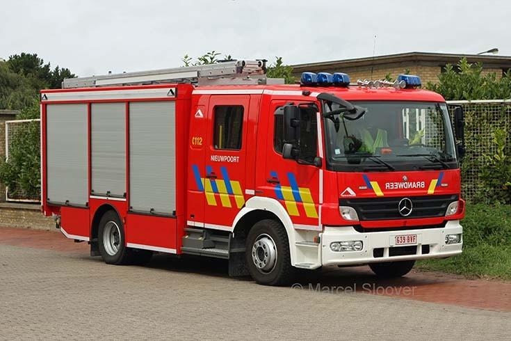 Brandweer Nieuwpoort Mercedes Atego Rescue pump