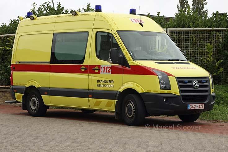 Volkswagen Crafter ambulance Brandweer Nieuwpoort