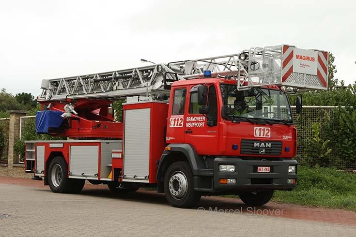 Brandweer Nieuwpoort MAM Magirus ladder