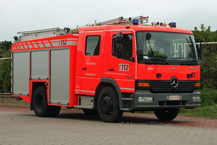 Brandweer Nieuwpoort Mercedes Atego pump