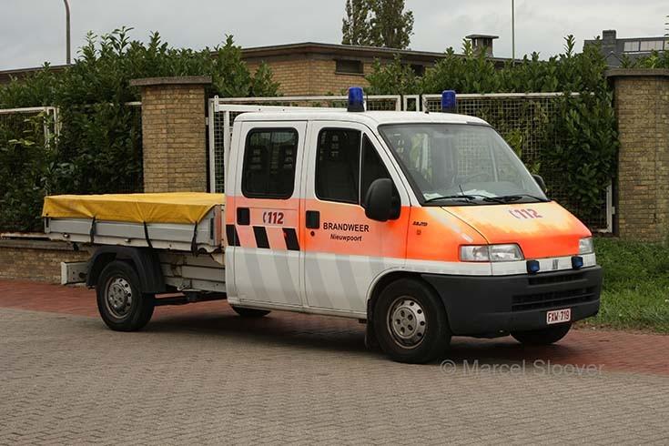 Brandweer Nieuwpoort Fiat Pickup truck