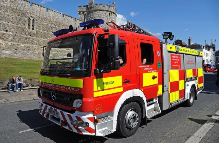 Royal Berkshire Fire outside Windsor Castle