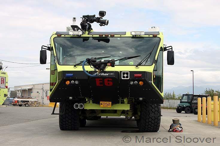 Front view Engine 6 Oshkosh Striker 4500 Anchorage