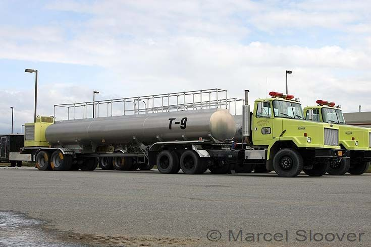 Tanker 9 White GMC Autocar Anchorage Airport