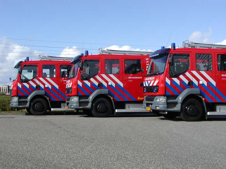 Brandweer Alkmaar Line-up DAF LF appliances