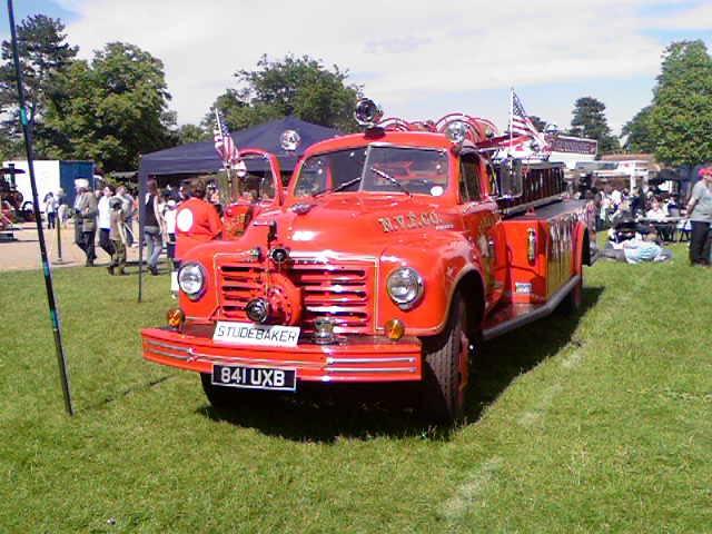 Preserved Studebaker fire truck