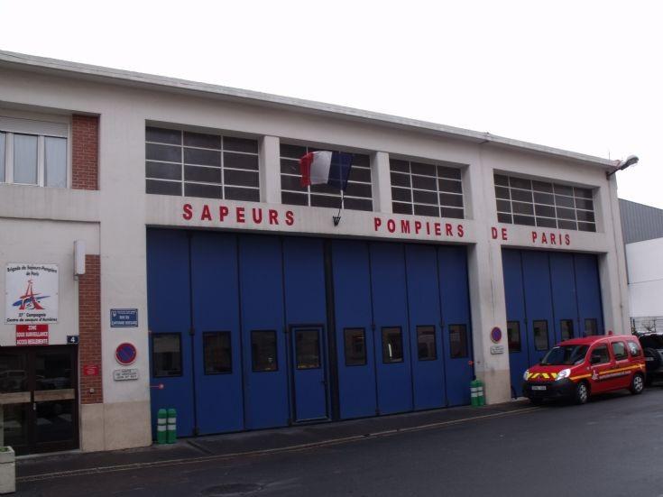 Asnières's fire station.