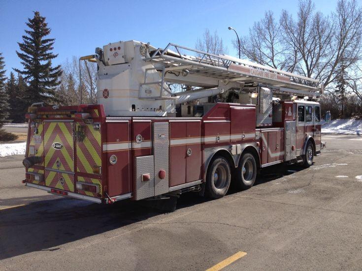 Calgary Fire Dept Aerial 17 E-One Bronto