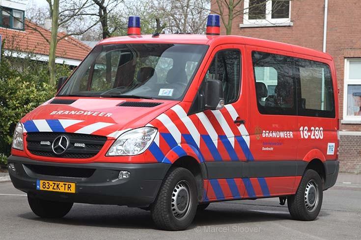 Brandweer Dordrecht Mercedes Sprinter 18-280
