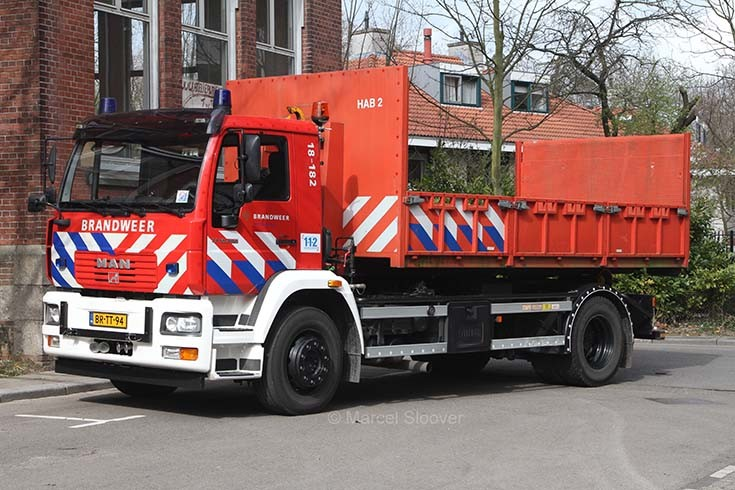 Brandweer Dordrecht MAN prime mover 18-182
