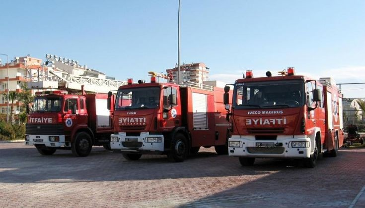 Düden Fire Station Vehicles lineup