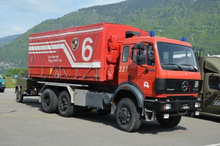 Material truck Mercedes Interlaken Airbase