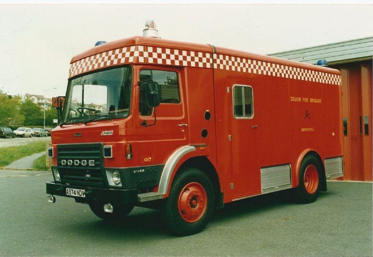 Devon Emergency Tender A974 NDV