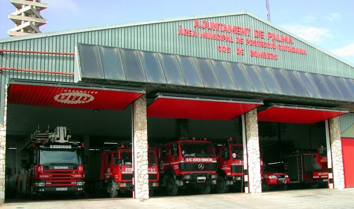 Fire Station II of Palma de Mallorca Spain