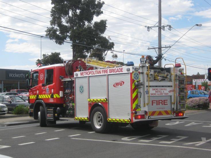 Preston Fire Brigades Scania pump unit 12.