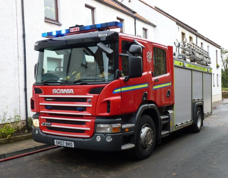 Lothian and Borders FRS Scania /E-one SK07 BKO