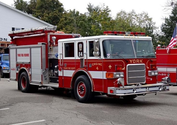 York Fire dept Maine Engine 4