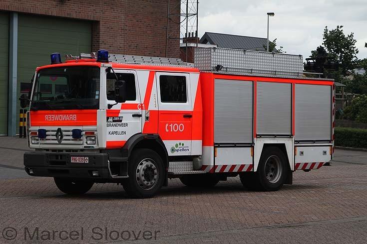 Brandweer Kapellen Belgium Renault Vanassche