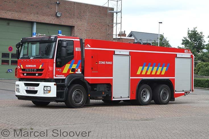 Brandweer Kapellen Belgium Iveco water tanker